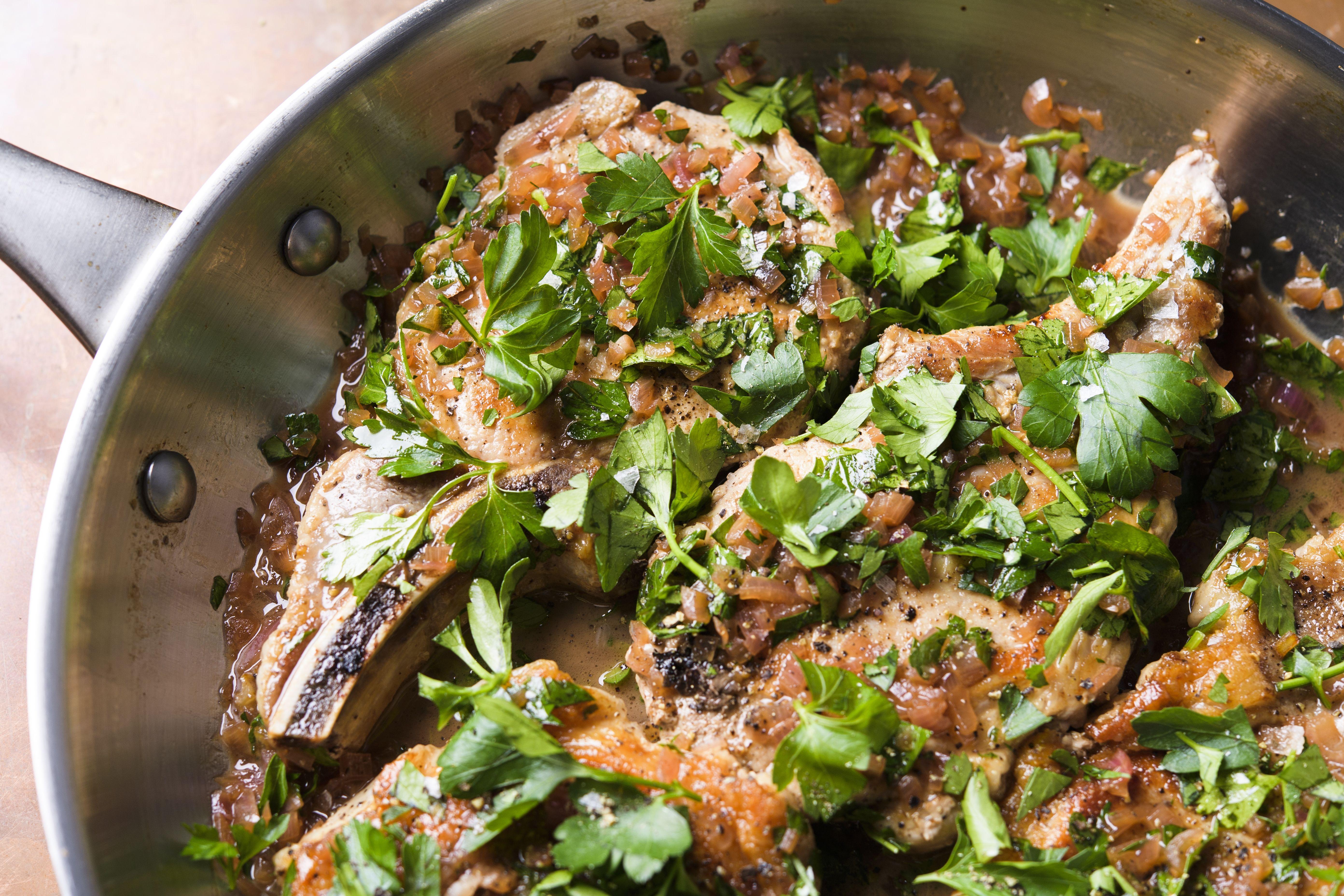 Italian Sweet-and-Sour Pork Chops