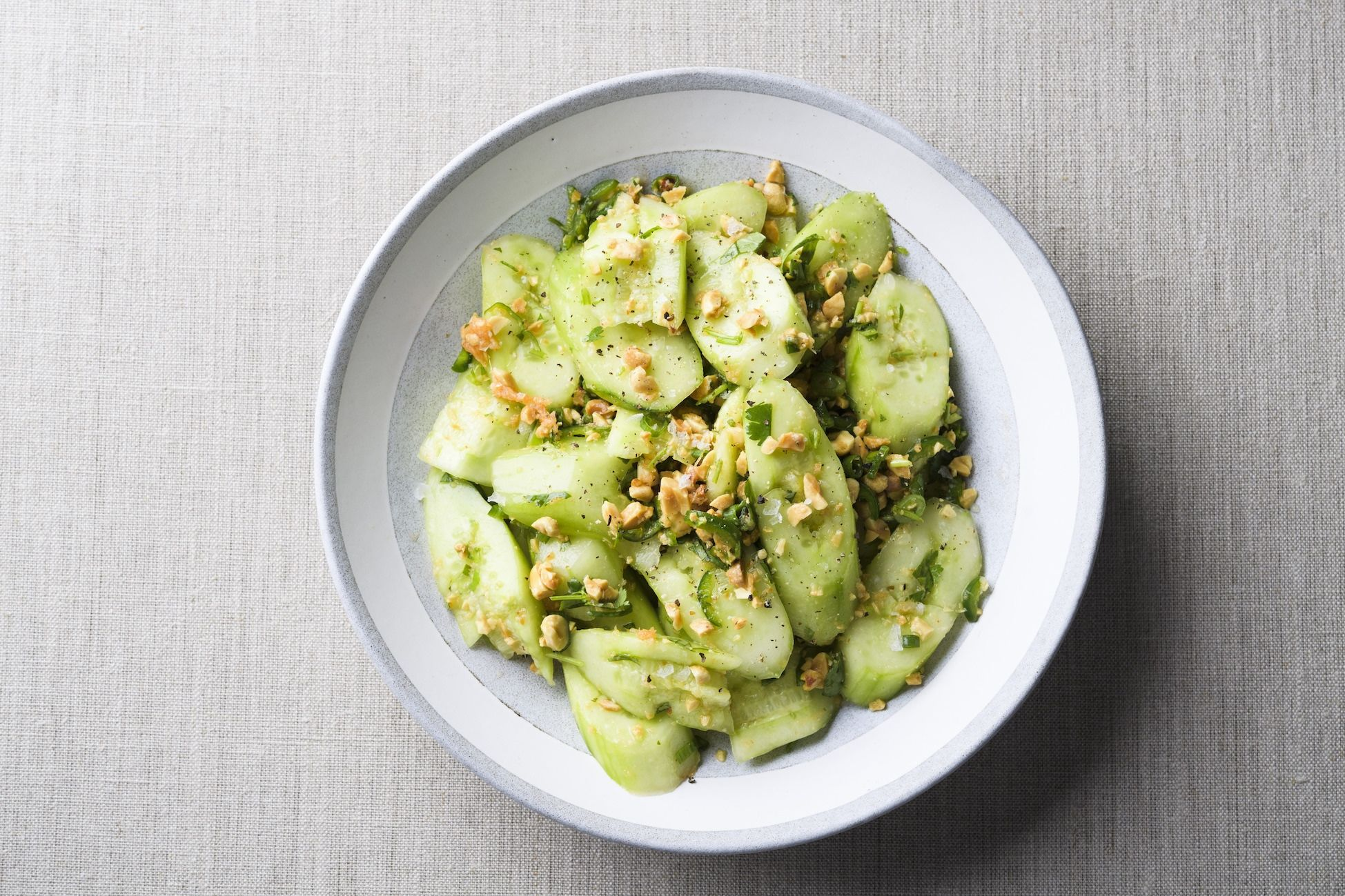 Smashed Cucumber Salad with Peanuts, Scallions and Cilantro