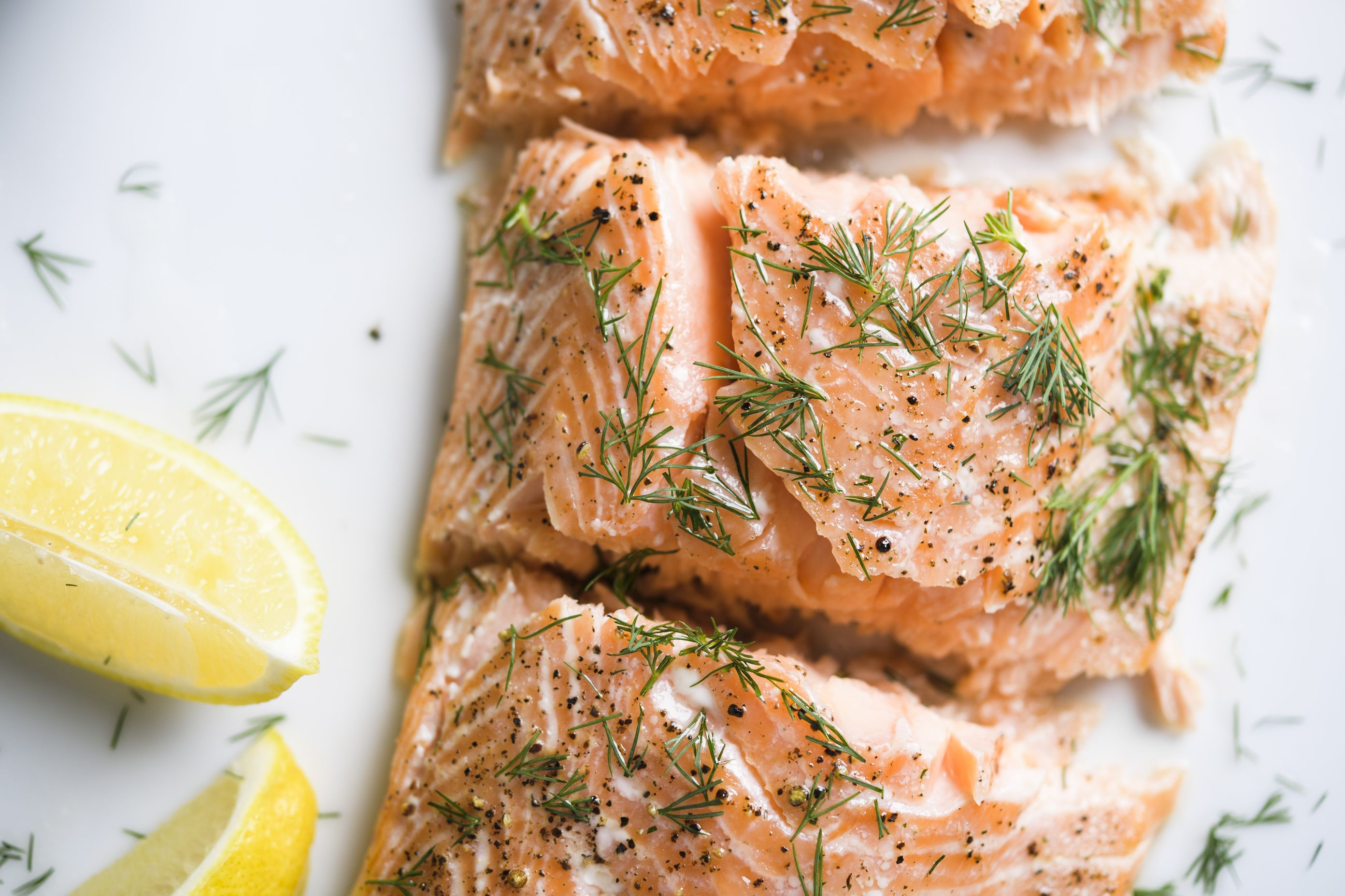 Baked Salted Salmon with Dill