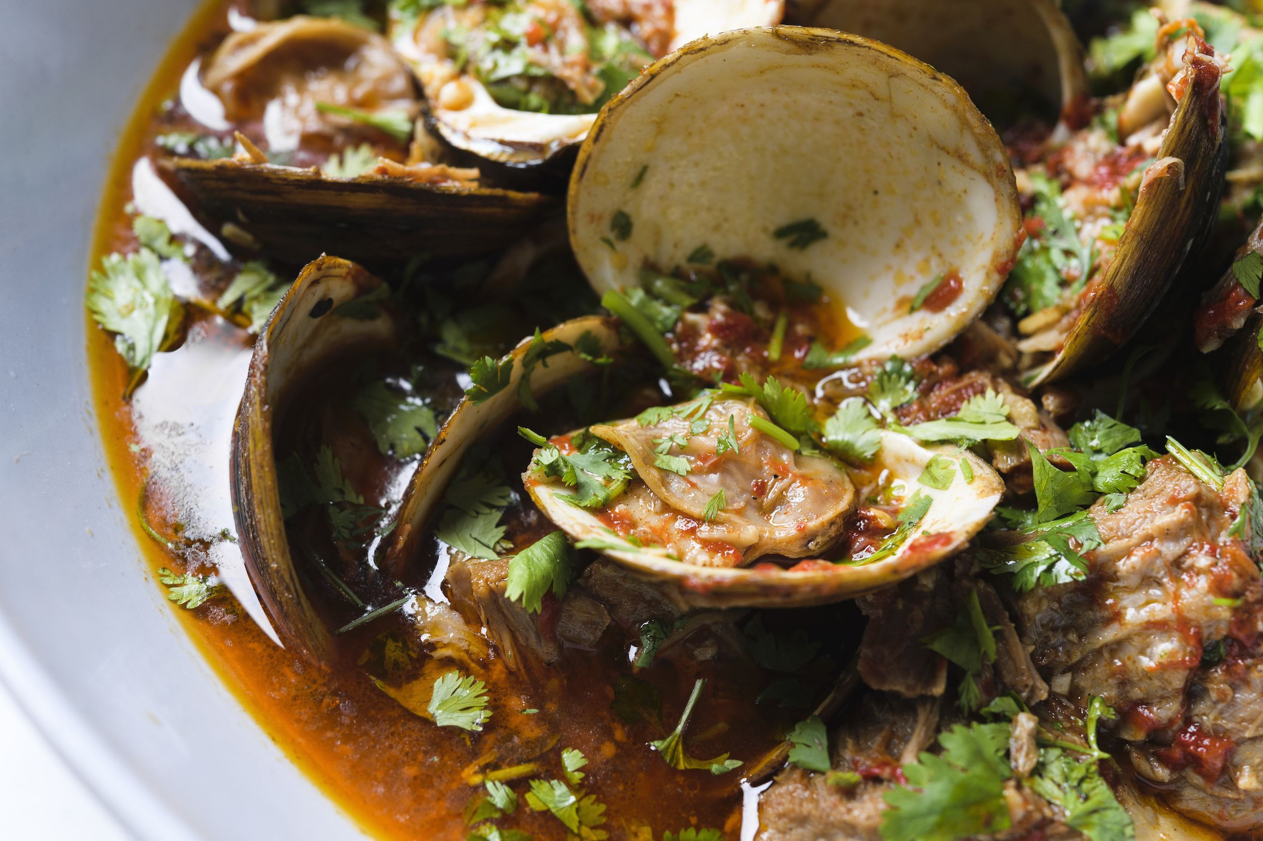 Portuguese Braised Pork with Clams