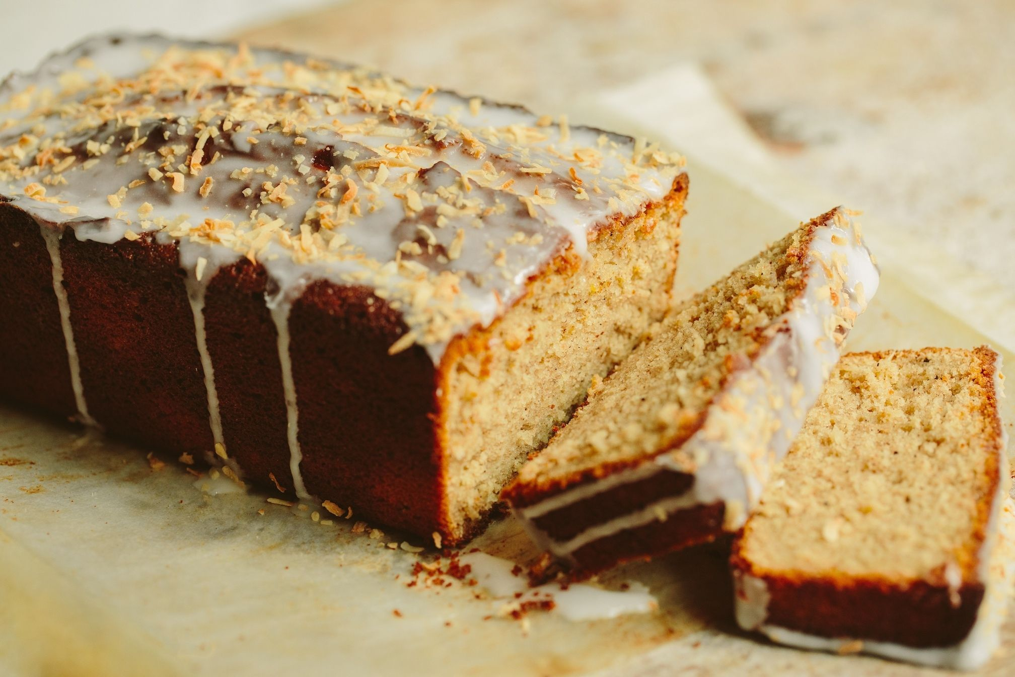 Browned Butter and Coconut Loaf Cake