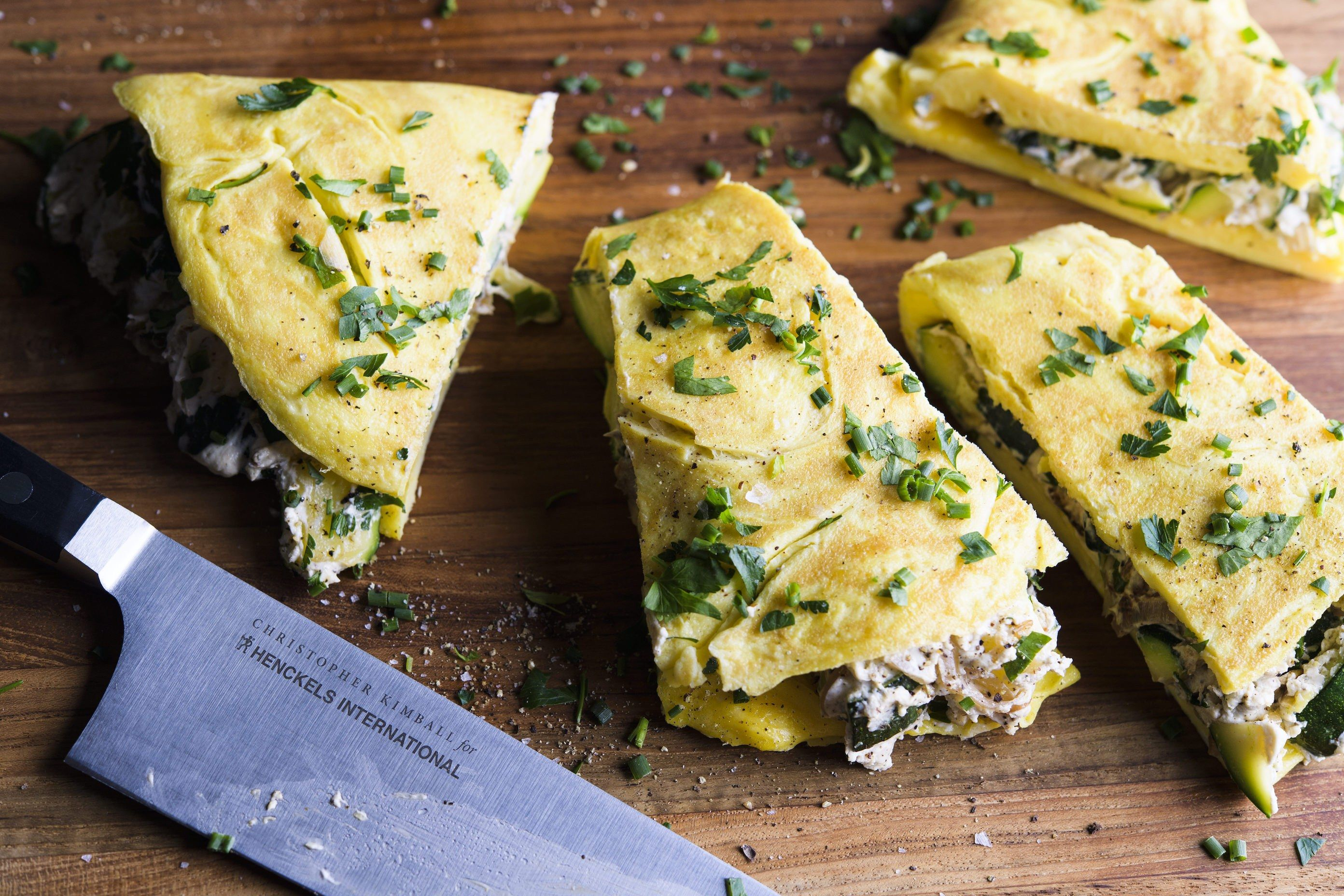 Zucchini and Goat Cheese Omelet